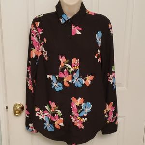 A New Day Floral Print Blouse